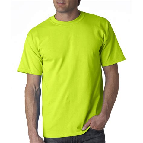 safety green color gildan 2000 ultra cotton t shirt