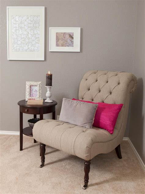 Sitting Chairs by See A Traditional Gray Bedroom Sitting Area With A Neutral