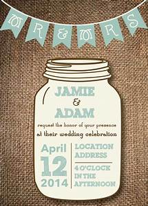 Mason jar wedding invitations invitation with nice design for Mason jar beach wedding invitations