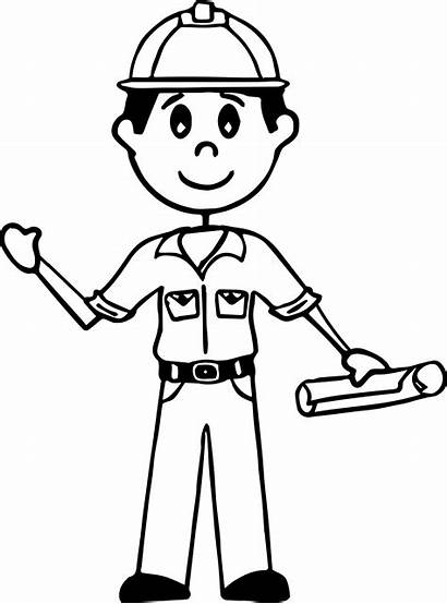 Stick Figure Coloring Pages Drawing Working Figures