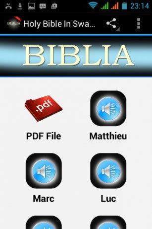 holy bible app for android holy bible in swahili free for android by bible