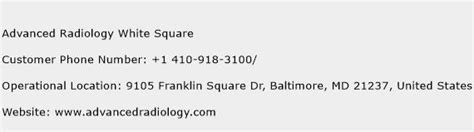 square phone number advanced radiology white square customer service phone