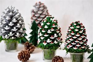 Weihnachtsdeko Aus Filz Selber Machen : diy weihnachtsdeko basteln mit tannenzapfen ~ Whattoseeinmadrid.com Haus und Dekorationen