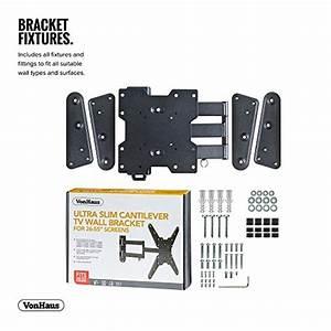 Vonhaus Ultra Slim Cantilever Articulating Arm Swivel And