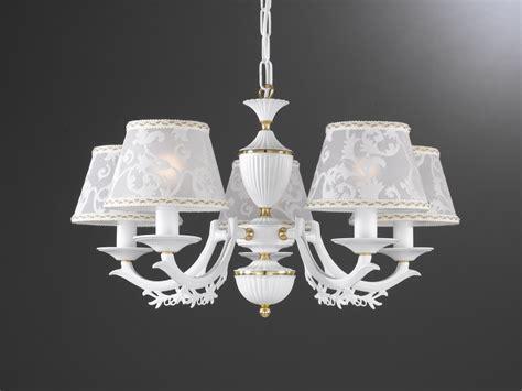 chandelier l shade 5 lights matt iron white brass chandelier with l