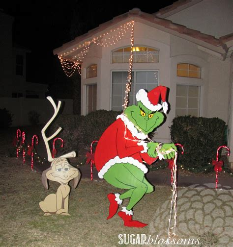 Christmas Decoration Grinch Stealing Lights  Christmas Ideas