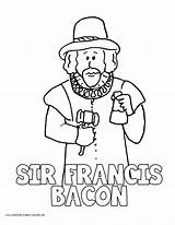 Bacon Coloring Pages Drake Francis Sir History Volume Printable Homeschool Printables Getcolorings sketch template