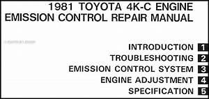 1981 Toyota Starlet Emission Control Manual Original