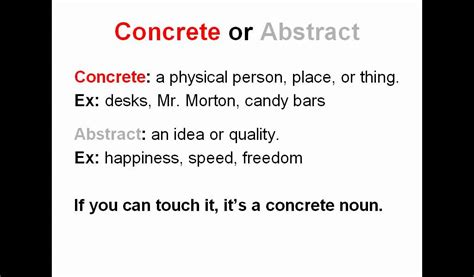 noun types  capitalization proper common concrete
