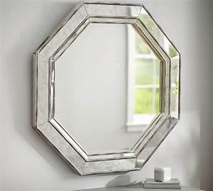 octagon wall mirror pottery barn With octagon bathroom mirror