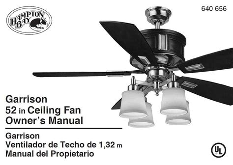 Hton Bay Ceiling Fan Wall Manual by Hton Bay Ac 418 Ceiling Fan Fan Stopped Turning The