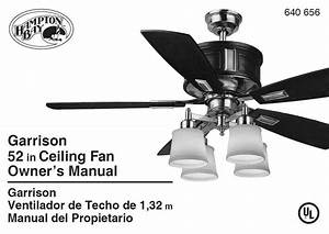 Hampton Bay Ac-418 Ceiling Fan