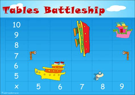 multiplication tables interactive games multiplication battleship printable times tables game