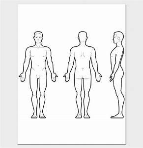 Body Outline Front and Back - 11+ Printable Worksheet ...