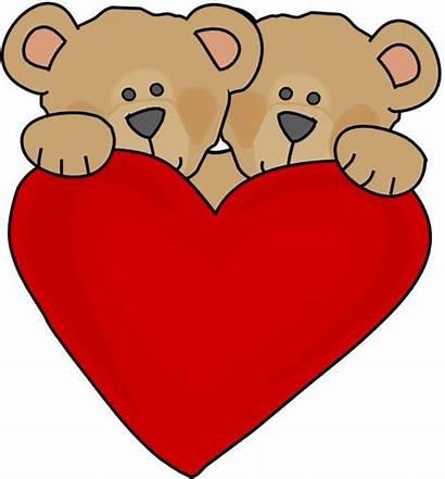 Valentine Teddy Clipart Hearts Bears Heart Bear