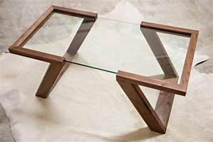 Table Verre Bois : table basse design bois et verre table ronde salle a manger avec rallonge objets decoration maison ~ Teatrodelosmanantiales.com Idées de Décoration