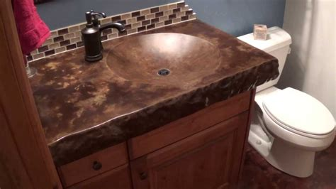 concrete shallow sink  acid staining youtube