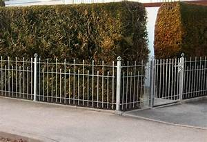 gartenzune gnstig beautiful als gartenzaun gnstig im With französischer balkon mit gartenzaun metall grau