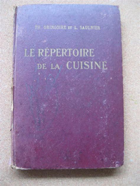 repertoire de la cuisine culinary th gringoire et l saulnier le répertoire de la cuisine 1947 catawiki