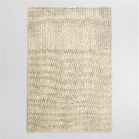 world market jute rug bleached ivory basket weave jute rug world market