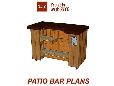 patio bar plans patio building