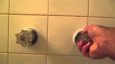 replace bathtub faucet handles youtube