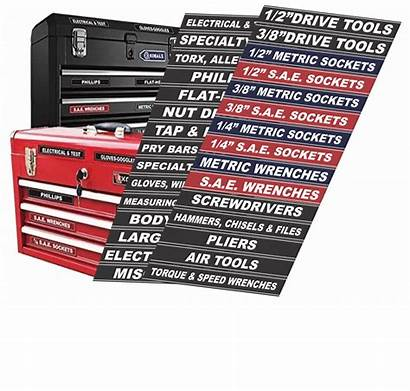 Toolbox Labels Adhesive Tool Craftsman Chest Fits