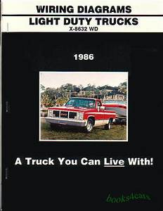Truck Manual Wiring Diagram Book 1986 Chevrolet Gmc C  K