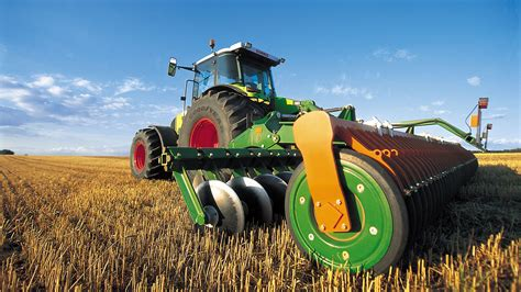modern agricultural machinery autumn harvest preview wallpapercom