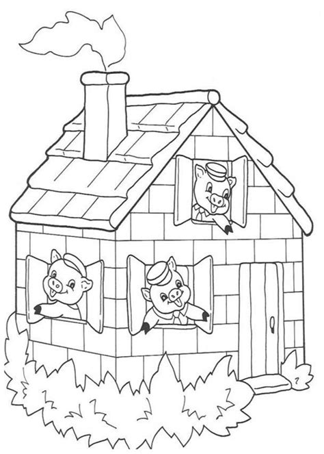 Three Little Pig Coloring Pages Coloring Home