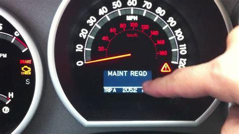 Maintenance Required Light Toyota Tacoma by 2011 Toyota Tundra Maintanence Light Reset