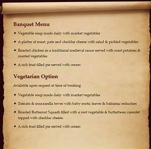 medieval food menu quotes With tudor menu template