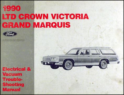 car repair manuals online pdf 1990 mercury grand marquis engine control 1990 ford crown victoria grand marquis electrical troubleshooting manual