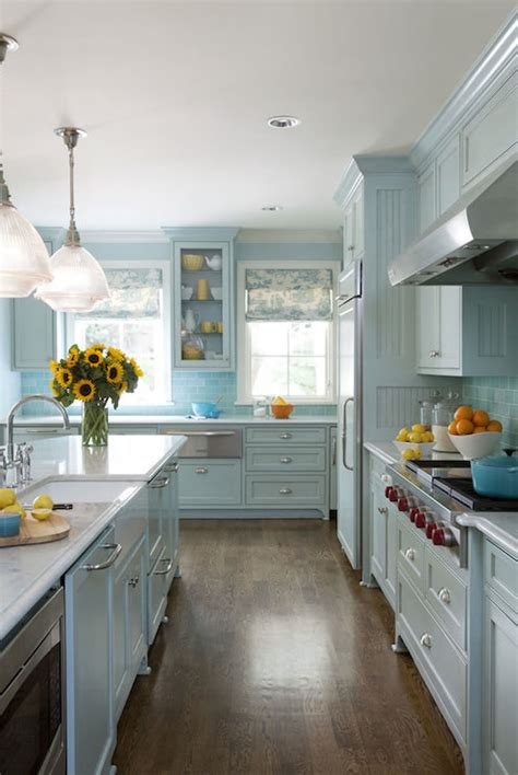 blue kitchens cottage kitchen sherwin williams