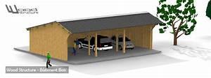 Hangar En Kit Bois : kit charpente bois wood structure ~ Premium-room.com Idées de Décoration