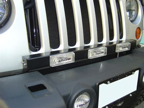 jeep light bar grill delta tech 01 9531 silo grille light bar with led lights