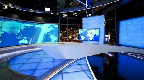 cctv intl studio  set design news sets broadcast