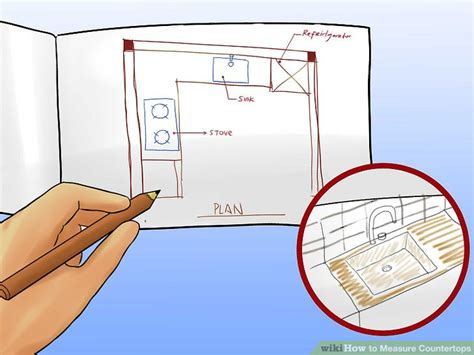 how do you measure a kitchen sink 4 ways to measure countertops wikihow 9257