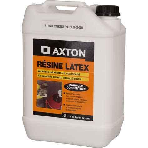 r 233 sine d adh 233 rence concentr 233 e pour mortier axton 5 l blanc leroy merlin