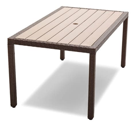 resin outdoor dining table strathwood griffen all weather garden furniture wicker