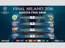 Schedule of Champions League quarterfinals on TV World