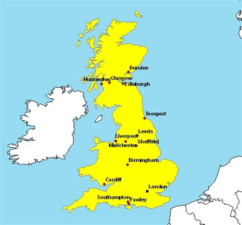 Carte Du Royaume Uni Sans Les Villes by Cartes De L Angleterre