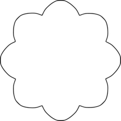 Vector image of 8 scallop outline flower Public domain