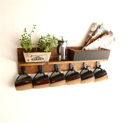If you're still in two minds about coffee cup holder wall and are thinking about choosing a similar product, aliexpress is a great place to compare prices and sellers. Buy a Handmade Rustic Wall Mounted Coffee Mug Rack With ...
