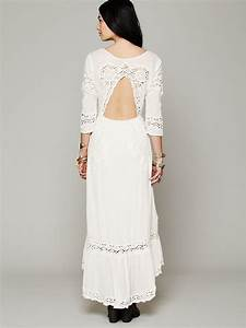 Free people mexican wedding dress in white lyst for Free people mexican wedding dress