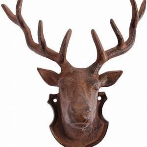 Deer head wall art by garden beet notonthehighstreet