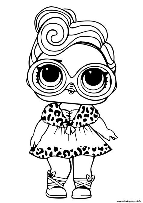 lol doll dollface coloring pages printable