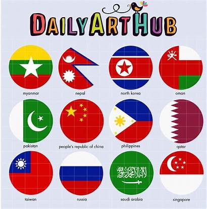 Flags Asian Clip Hub Objects