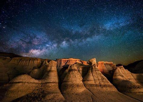 Landscape Nature Milky Way Galaxy Starry Night Desert