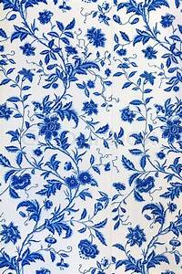 Blue floral pattern on the wallpaper | Stock image | Colourbox